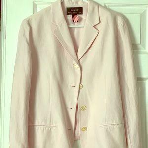 Pink Linen Ralph Lauren Blazer